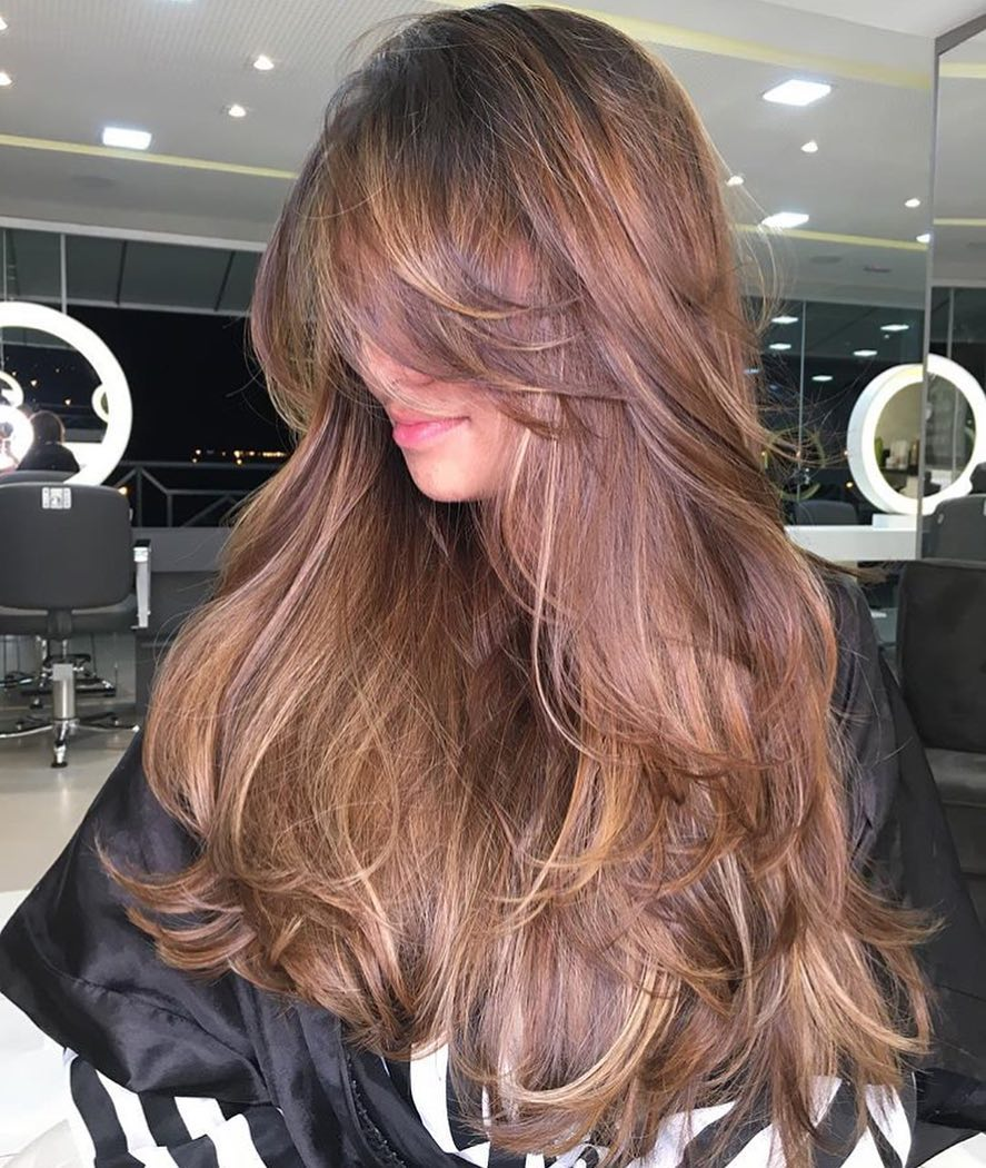 50 Prettiest Long Layered Haircuts With Bangs For 2021 Hair Adviser