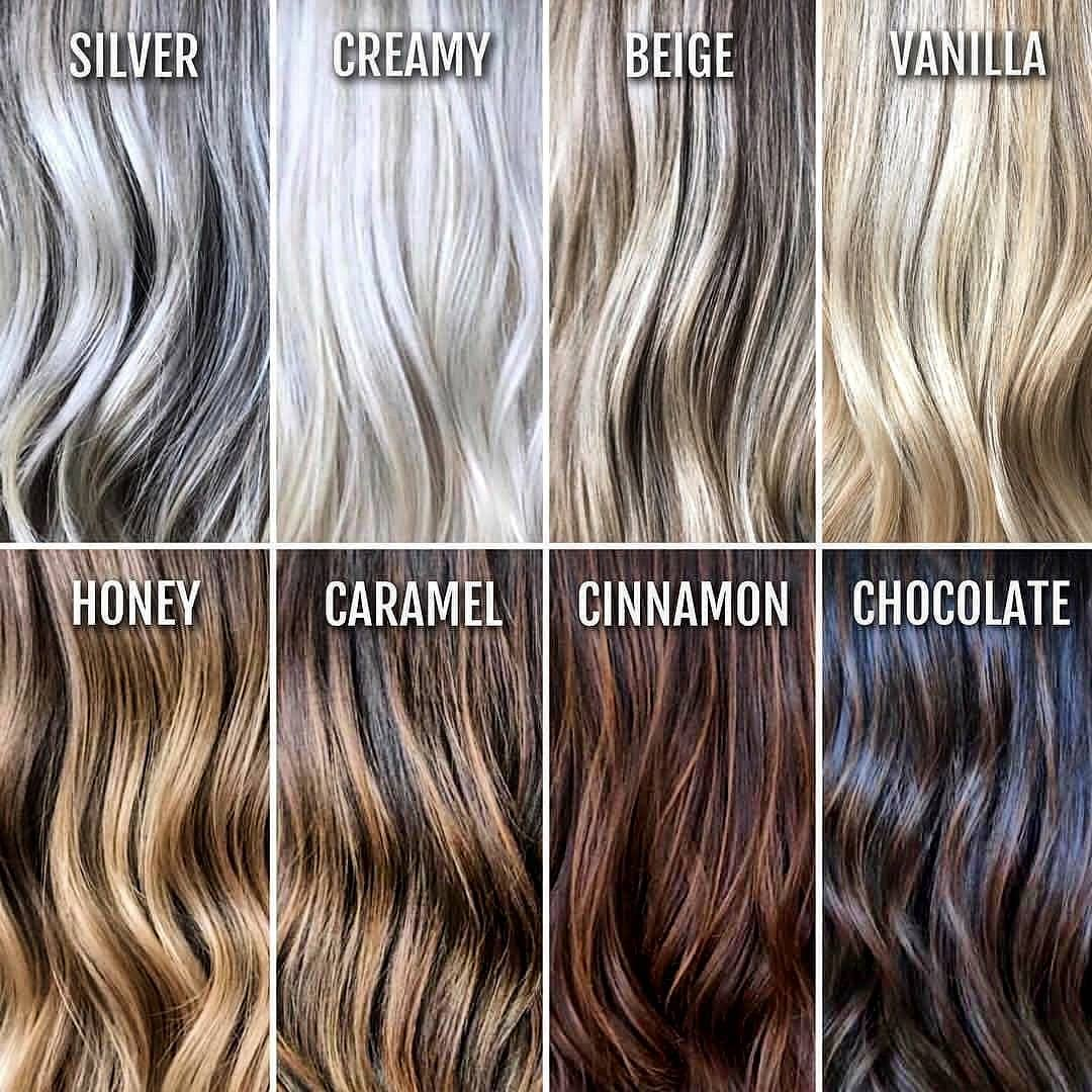 The Best Hair Color Chart With All Shades Of Blonde Brown Red Black,Where To Hang Sheer Curtains